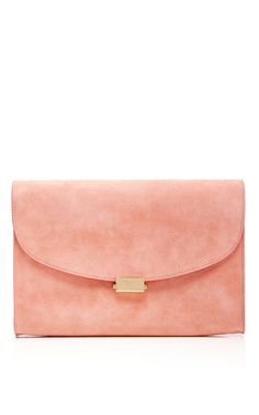 1602017f3d61 Mansur Gavriel Coral Suede Envelope Flat Clutch Prom Clutch Bags, Pink  Clutch, Black Leather