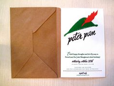 Peter Pan party invitation | Pencil Shavings