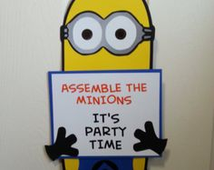 Minion Inspired Character Door Sign - customizable
