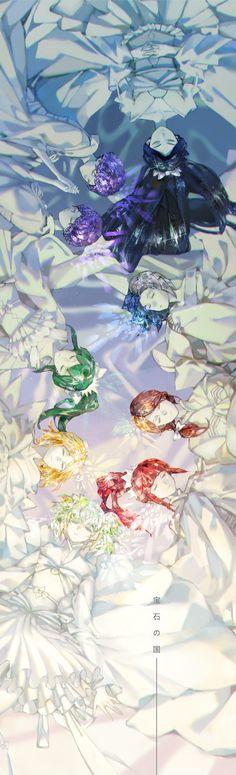 Houseki no Kuni (Land Of The Lustrous) Image - Zerochan Anime Image Board Manga Anime, Me Anime, Kawaii Anime, Anime Art, Color Splash, Anime Characters, Cool Art, Illustration Art, Character Design