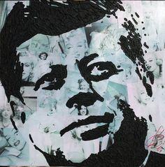 JFK Warhol style- tela 60x60 tecnica mista