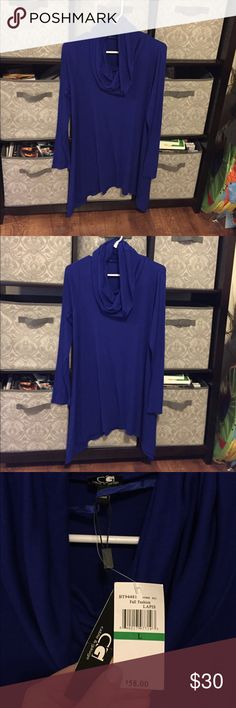 NWT - cable and gauge royal blue long sleeve top NWT - cable and gauge royal blue long sleeve top Cable & Gauge Tops Blouses