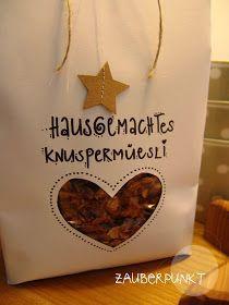 Hausgemachtes Knuspermüesli   & hübsch verpackt dazu;-)           B ist du eingeladen und brauchs...