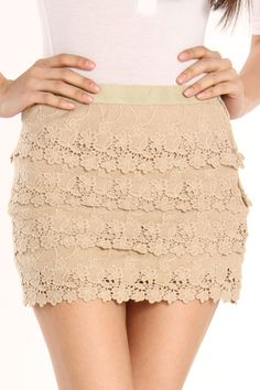 Gracia Natasha Skirt In Beige - Beyond the Rack This is cute. I must have this!