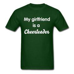 My girlfriend is a cheerleader shirt
