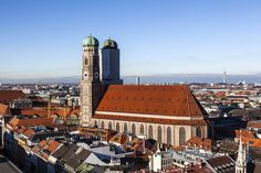 """Europe is known for its beautiful architecture and rich history. And one of the best examples of both comes in the form of churches. Europe is full of gorgeous churches of every shape and style imaginable. This is the premise behind our blog mini-series """"Famous Churches of Europe.""""  #Travel #JustGo  This week's focus: #Munich, Germany"""