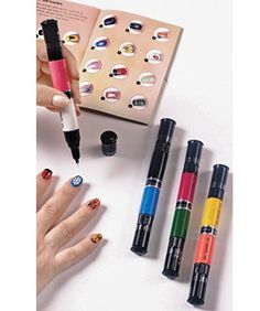 So cool! I can never find a good nail art brush for designs.
