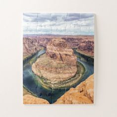 Horseshoe Bend Arizona Jigsaw Puzzle - photography gifts diy custom unique special