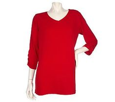 Pin to Win #SusanGraver Sweepstakes! {Liquid Knit Tunic with Ruched Sleeves} Enter here: http://sweeps.pinfluencer.com/QVC