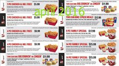 Kfc Coupons Promo Coupons will expired on MAY 2020 ! About KFC For fried chicken in the Colonel's kitchen, use the Kentucky Fried C. Mcdonalds Coupons, Kfc Coupons, Mother's Day Coupons, Grocery Coupons, Love Coupons, Print Coupons, Kfc Printable Coupons, Free Printables, Dollar General Couponing