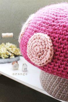 crochet mushroom chair