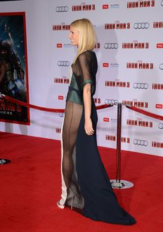 Gwyneth Paltrows Iron Man 3 Red Carpet Style
