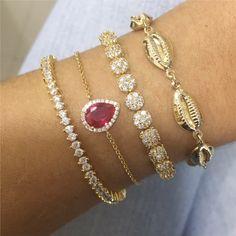 pulseiras de ouro,diamantes,rubi.