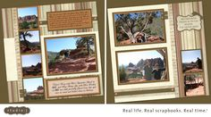 I made these layouts of our trip to Sedona in 2010 with CTMH's Studio J.