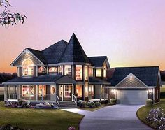 Victorian with Wrap-Around Porch - 57217HA | Country, Victorian, 2nd Floor Master Suite, PDF, Wrap Around Porch | Architectural Designs