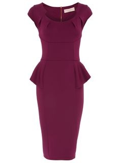 Raspberry peplum pencil dress - Dresses - View All Sale - Sale & Offers - Dorothy Perkins United States
