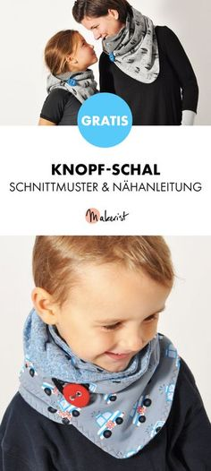 Free instructions: Button scarf sew yourself - pattern and .- Gratis Anleitung: Knopf-Schal selber nähen – Schnittmuster und Nähanleitung vi… Free instructions: Button scarf sew yourself – pattern and sewing instructions via Makerist. Baby Knitting Patterns, Free Knitting, Sewing Patterns, Crochet Patterns, Beginner Knitting, Baby Patterns, Crochet Ideas, Easy Knitting Projects, Sewing Projects