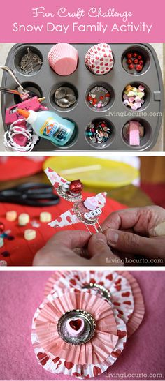 Snow Day Family Craft Idea - Have a craft challenge! LivingLocurto.com