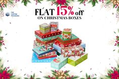 Boost the value of your Christmas gifts with exclusively designed custom Christmas boxes at a very affordable price.