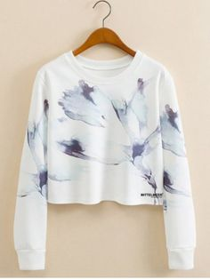 GET $50 NOW | Join RoseGal: Get YOUR $50 NOW!http://www.rosegal.com/sweatshirts-hoodies/abstract-ink-panting-cropped-long-661063.html?seid=6990270rg661063