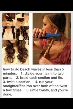 How To Do Beach Waves In Less Than 5 Mins☺️🌴