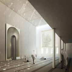 Sunlit prayer hall