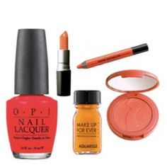 Tangerine lips or nail polish will bring the perfect amount of bright into fall.