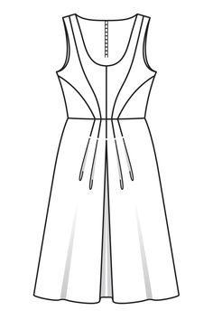 Платье приталенного силуэта - выкройка № 122 из журнала 3/2016 Burda – выкройки платьев на Burdastyle.ru