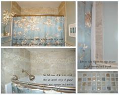 tiles above the shower surround give style to a forgotten area something nice to look