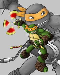 After reigniting my love for the TMNT world again with the new 2012 Ninja Turtles, i wanted to draw them all. I started with my fav turtle Raphael. Im trying a new way of shading and effects so if ...