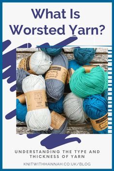There are lots of terms in knitting that we recognise in every day life. Then there are those that confuse us as we've never heard them before! Worsted is one of them. You'll learn all about the double meaning of 'worsted yarn' today. Crochet Patterns For Beginners, Knitting For Beginners, Knitting Ideas, Knitting Projects, Crochet Projects, Knitting Wool, Knitting Needles, Knit Crochet, Crochet Hats