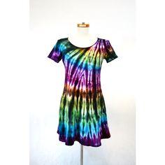 Tie Dye Dress Hippie Dress a-Line Dress Tunic Plus Size Dress ($36) ❤ liked on Polyvore featuring dresses, grey, women's clothing, rainbow dress, womens plus dresses, tie dye hippie dress, hippie dress and plus size a line dresses