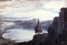 (John) Robert Cozins  Lake Nemi, Campagna, Italy 1788