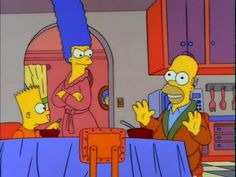 "Homer being sarcastic to Marge ""I'm The Magical Man From Happy Land."""