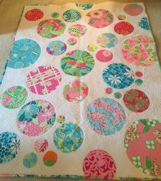 Throw size Shift Dress Quilt made with Lilly Pulitzer fabric ... : lilly pulitzer quilts - Adamdwight.com