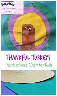 Preschool Thanksgiving Craft: Thankful Turkeys - Teaching 2 and 3 Year Olds