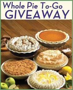 Marie Callender's Whole Pie To Go Giveaway -