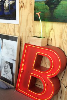 """#PhilospophicalLetters """"Be.""""  For sale at the 2016 #MNStateFair Cream of the Crop pop-up gallery located at The West End Market, booth 80. #Ne-ArtCustomNeonMinneapolis #neonchannelletter"""
