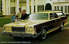 This '76 Mercury Marquis slab-sided beastie was the closest thing going to a Lincoln wagon. Naturally the family that would live in a palace such as that in the background would leave their Jags and Benzes parked while taking the Merc mall-trawling and little league-ing at the weekend.
