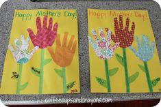 Flower Handprint Mother's Day Card