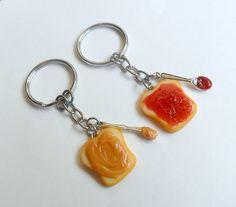 ON SALE Peanut Butter and Jelly Keychain Set by aLilBitOfCute