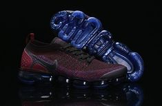 timeless design bbf5f 3c43f Nike Air VaporMax 2018 Flyknit 2.0 OW Wine Purple Blue Men