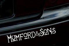 8 Wide Mumford  Sons Logo Vinyl Decal Bumper by tomlikesstickers, £2.99