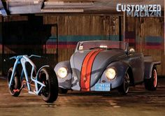 Custom bicycles,,,What bicycle?, I see an awesome Volkswagen! Velo Beach Cruiser, Cruiser Bicycle, Volkswagen Jetta, Cool Bicycles, Cool Bikes, Peugeot, Vw Rat Rod, Convertible, Hot Vw