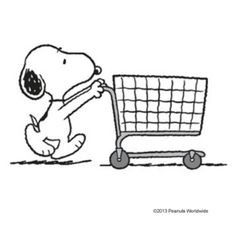 Image result for snoopy shopping