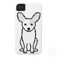 Papillon Dog Cartoon iPhone 4 Case-Mate Cases