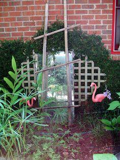 """Mirror in the garden ("""",)"""