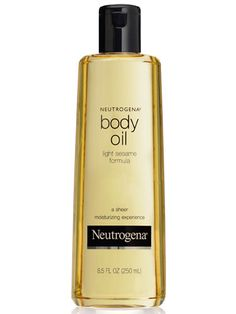Cult Classic: Neutrogena Body Oil - a does-it-all wonder: Use it in place of a moisturizer, drop some into a bath for a skin-softening effect, or even spread some on your décolletage and legs for a highlighting—and slimming—finishing touch.