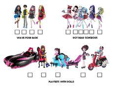 Monster High Visual Checklist Page 4 by BackinDrac.deviantart.com on @deviantART