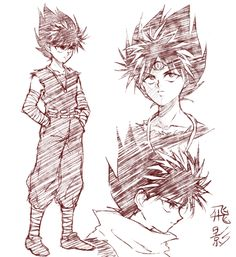 hiei doodles by kirisen on DeviantArt Manga Drawing, Manga Art, Manga Anime, Anime Boys, Yu Yu Hakusho Anime, Dragon Ball, Lupin The Third, Yoshihiro Togashi, Animation Tutorial